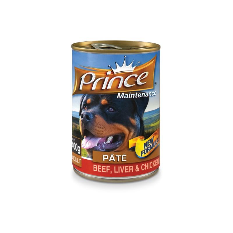 PRINCE Paste Dog 400 g Hovädzie s kuracou pečeňou